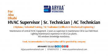 HVAC Supervisor _ Sr. Technician _ AC Technician